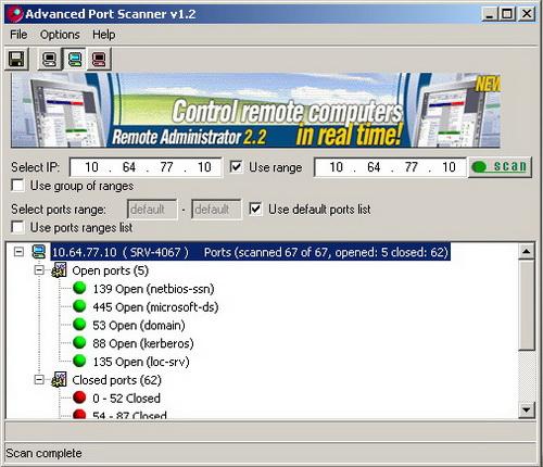 Сканер tcp портов doscan форум windowsfaq.